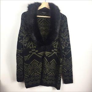 Romeo & Juliet Couture faux fur cardigan sep35